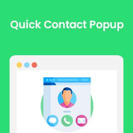 Quick Contact Popup